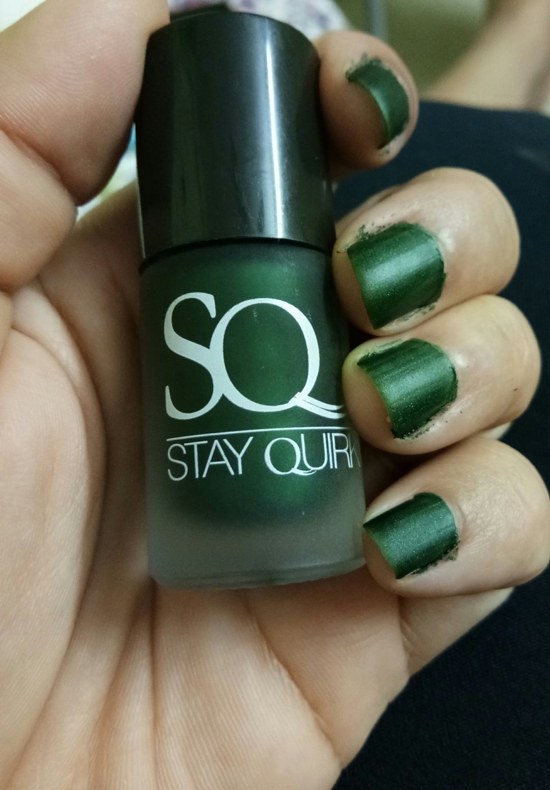 Stay Quirky Nail Polish Matte Green You Matte Us Up 1044: Review ...