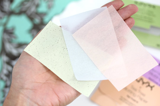 Blotting Paper to help with the excess oil. Use it always before touching up