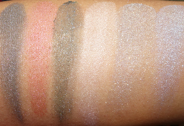 MAC Tropical Taboo Swatches Mineralize Eye Shadow