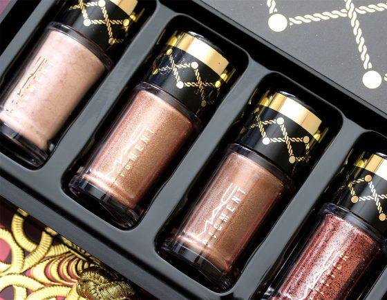 mac nutcracker sweet bronze pigments and glitter