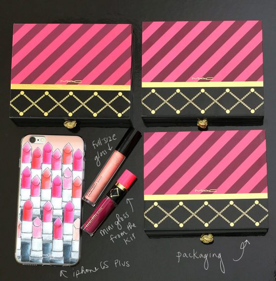 mac nutcracker sweet lip gloss kits scale