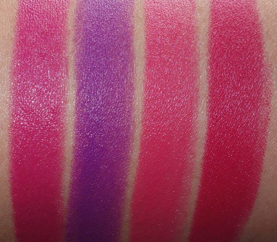 mac pink lipstick kit swatches