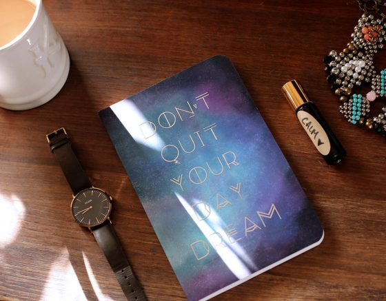 Monday essentials: a cup of coffee, my favorite watch, a new notebook, a handmade calming fragrance from my friend and one of my favorite necklaces