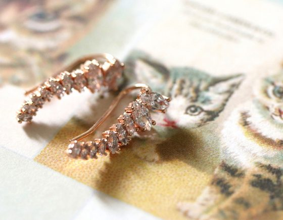 kristin perry marquise ear climbers rose gold