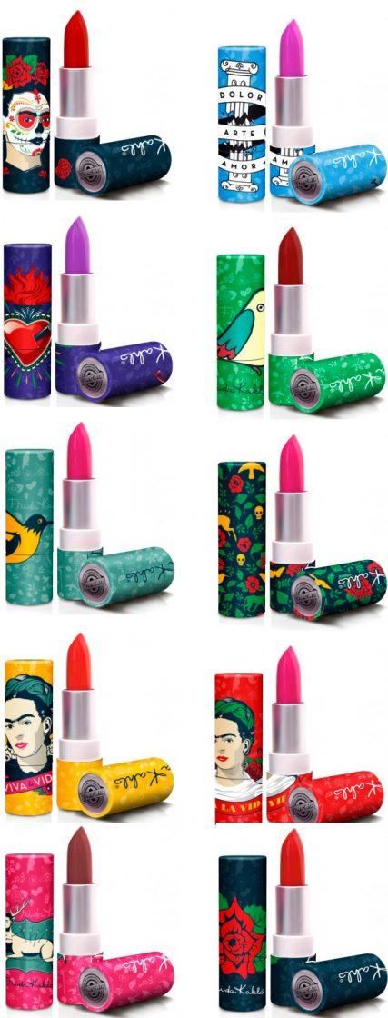 republic nail frida kahlo lipsticks