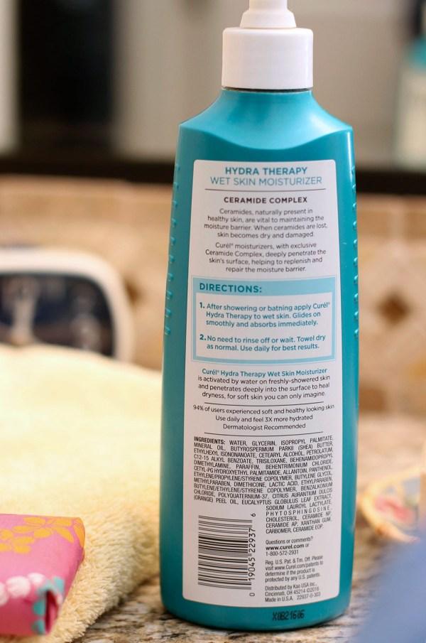 Curel Hydra Therapy Wet Skin Moisturizer Handle