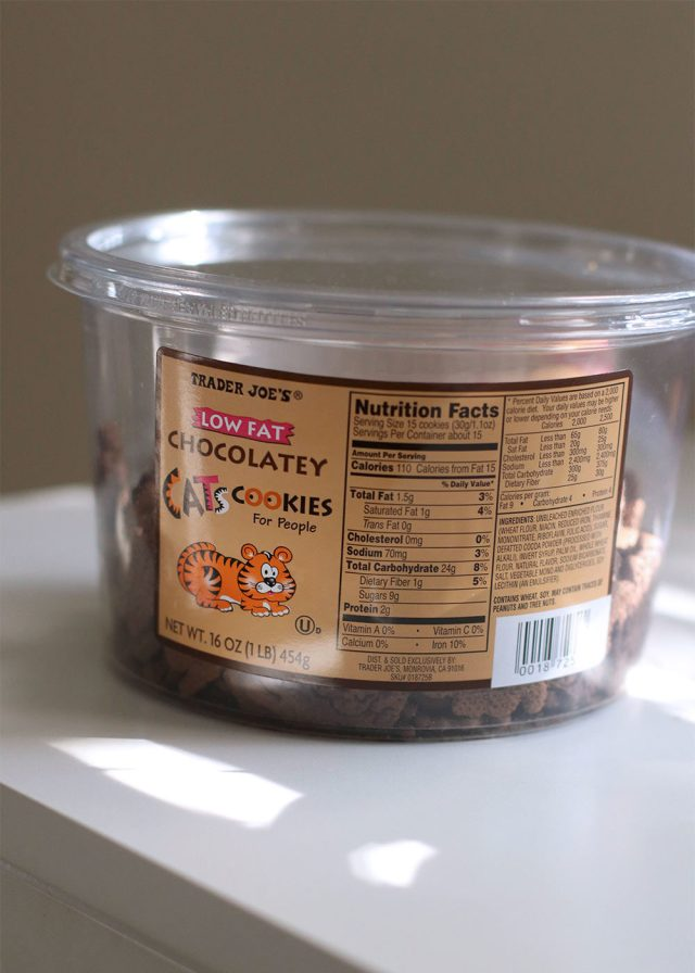 low fat chocolately cats cookies for people