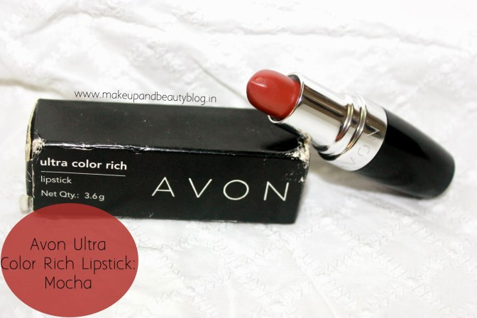 AVON Ultra Rich Lipstick: Mocha Review, Swatch and LOTD