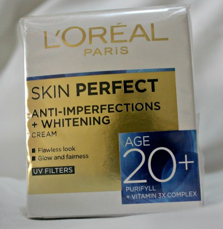 L'Oreal Paris Skin Perfect Anti-Imperfections + Whitening Cream (with UV Filters) for Age 20+ Review