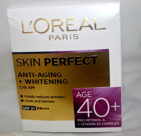 L'Oreal Paris Skin Perfect Anti-Aging + Whitening Cream For Age 40+ Review