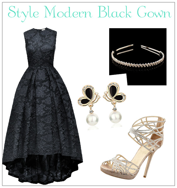 How To Style Modern Black Gown