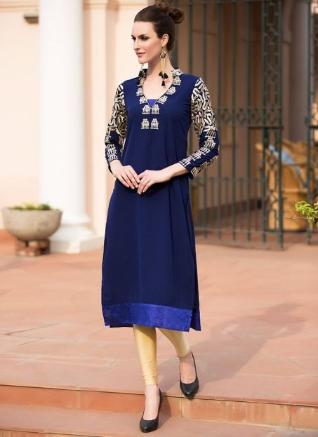 Best Designer Kurti with Perfect Color Combination