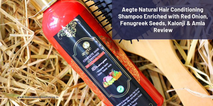 Aegte Natural Hair Conditioning Shampoo Enriched with Red Onion, Fenugreek Seeds, Kalonji & Amla Review