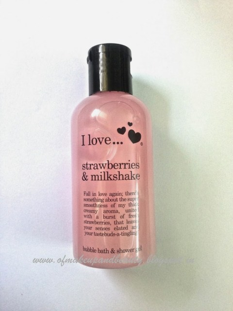 I Love….Strawberries and Milkshake bubble bath and Shower gel Review