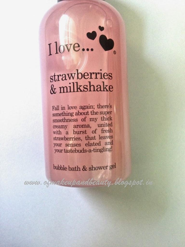 love strawberries and milkshake bubble bath and shower gel review strawberries and milkshake bubble bath and shower gel review