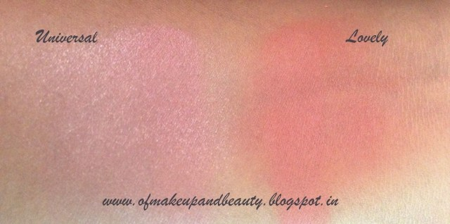 Purely Pro Cosmetics Blush swatches - Universal and Lovely Review