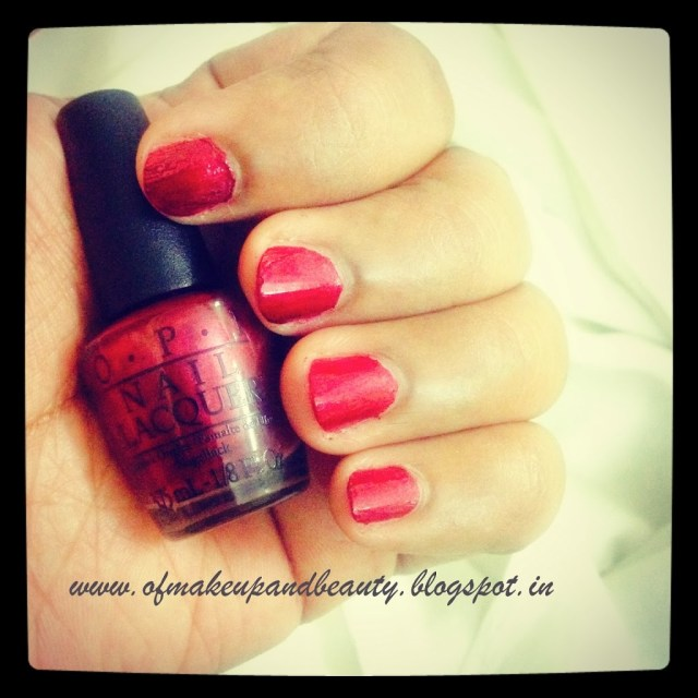 """OPI Nail Lacquer, """"I Am Not Really A Waitress"""" - NOTD and Review"""