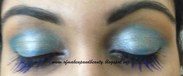 Aqua Blue Eye Make Up - EOTD; Make up and beauty Forever
