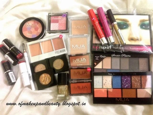 MUA (Make Up Academy) Haul !! - Mega Haul :P