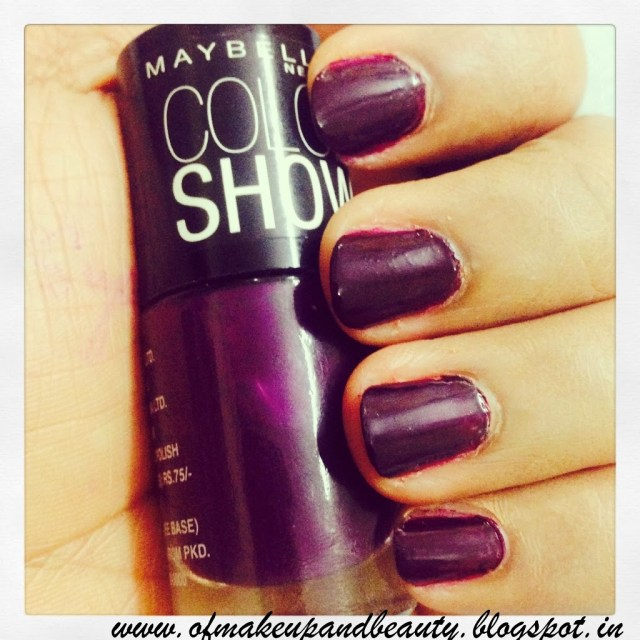 Maybelline Color Show Nail Polish - Crazy Berry !! Review and NOTD