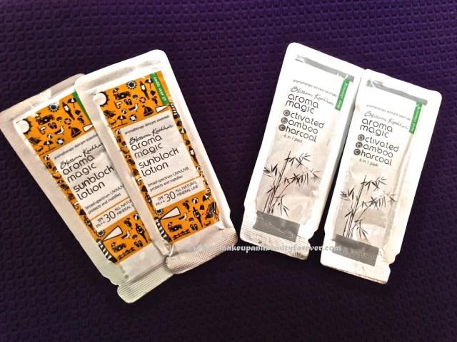 Aroma Magic sunscreen 6 in 1 charcoal face pack makeupandbeauty