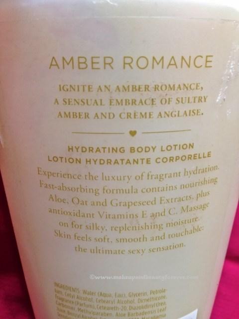 Victoria's Secret Amber Romance Hydrating Body Lotion Makeupandbeauty
