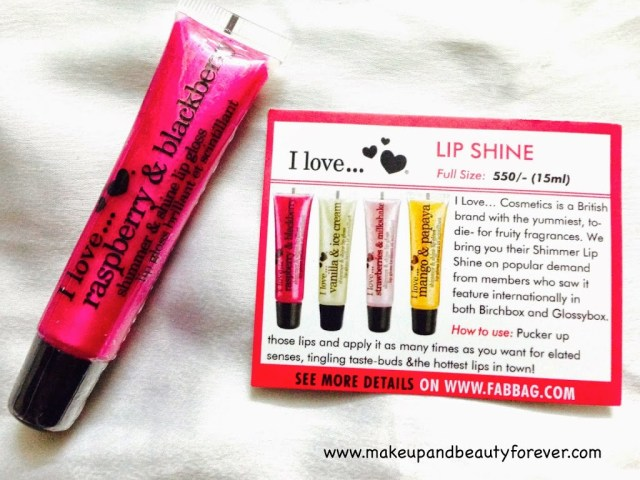 I Love... Lip Shine Raspberry & Blackberry