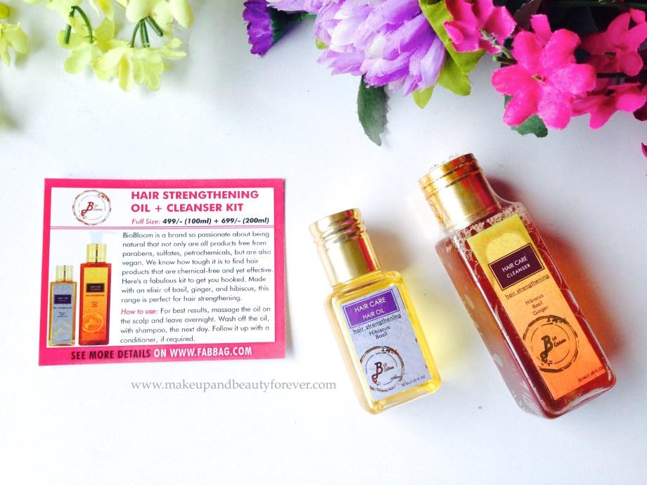 biobloom hair care kit shampoo cleanser