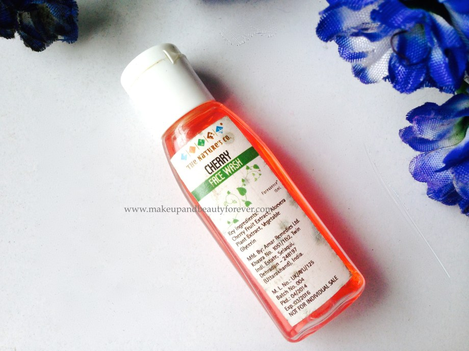 The Nature's Co Cherry Face Wash Review