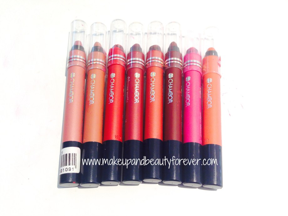 All Chambor Geneva Extreme Matte Long Wear LipColour Mattestick Review, Price, Shades, Swatch