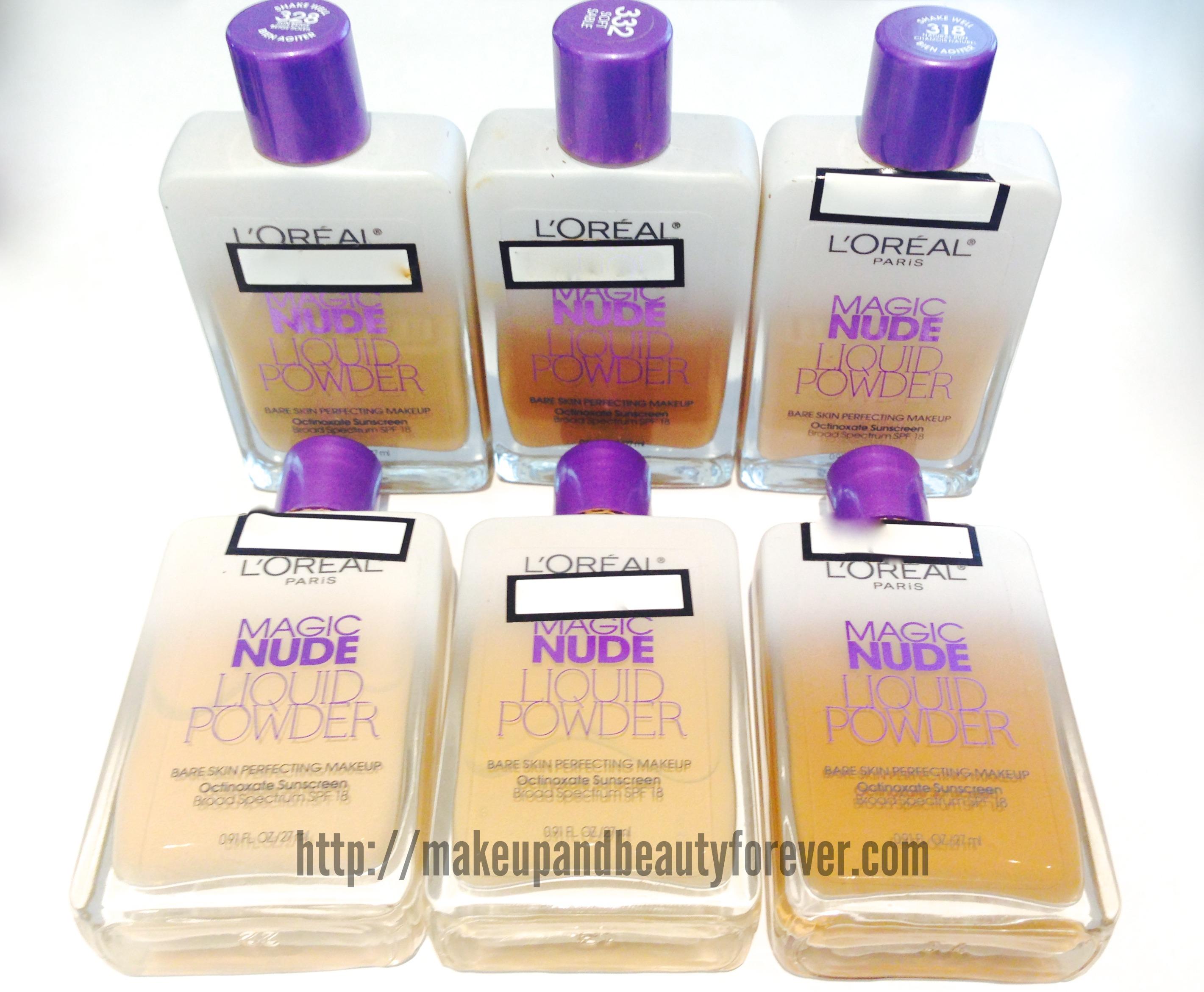 Loreal Paris Magic Nude Liquid Powder Bare Skin Perfecting Makeup ...