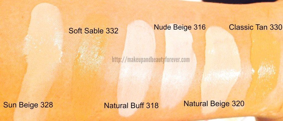 All Loreal Paris Magic Nude Liquid Powder Bare Skin Perfecting Makeup Foundation SPF 18 Shades Swatches Price and Details