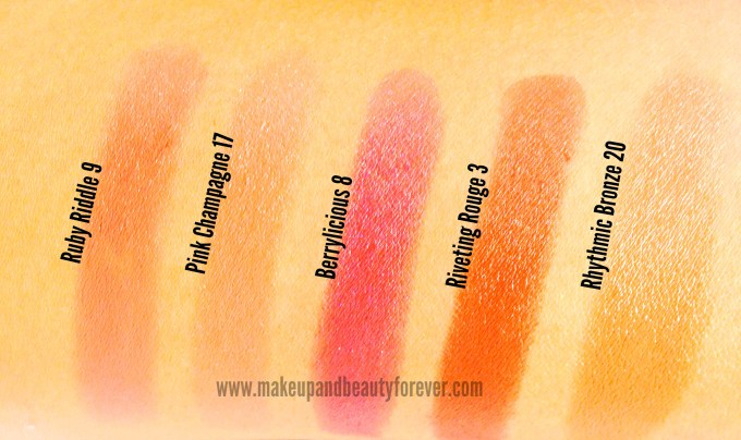 All Street Wear Color Rich Ultramoist Lipsticks Review, Swatches, Shades, Price, and Details
