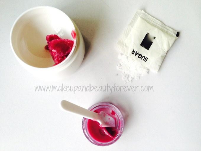 Easy Quick Lip Scrub DIY, Make your own Sugar Lip Scrub on the go