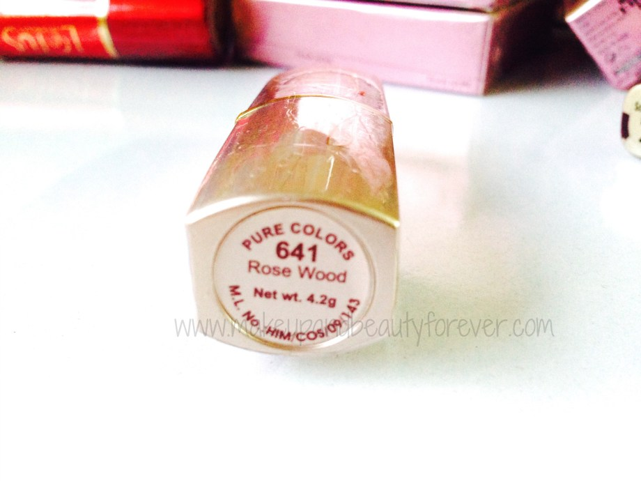 Lotus Herbals Pure Colours Lipstick in shade 641 Rose Wood