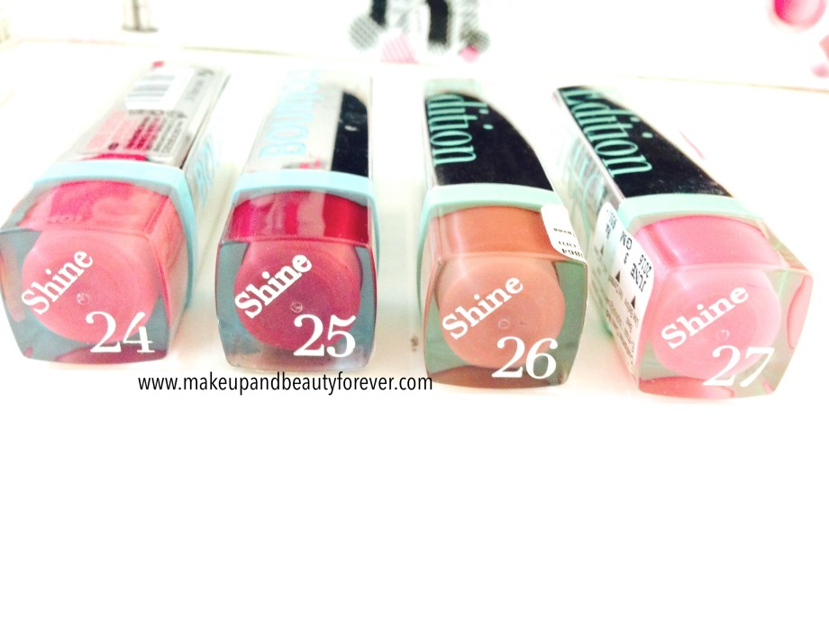 All Bourjois Shine Edition Lipsticks Shades, Swatches, Price and Details 24 25 26 27
