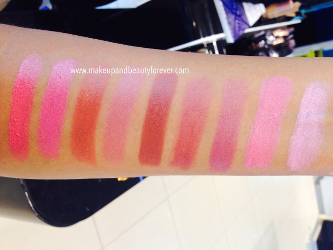 All Lakme 9 to 5 Matte Lipstick Lip Color Review, Shades Swatches Price and Details