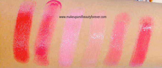 All Lakme Absolute Gloss Addict Lip Color Lipsticks Review, Shades, Swatches, Price Details India