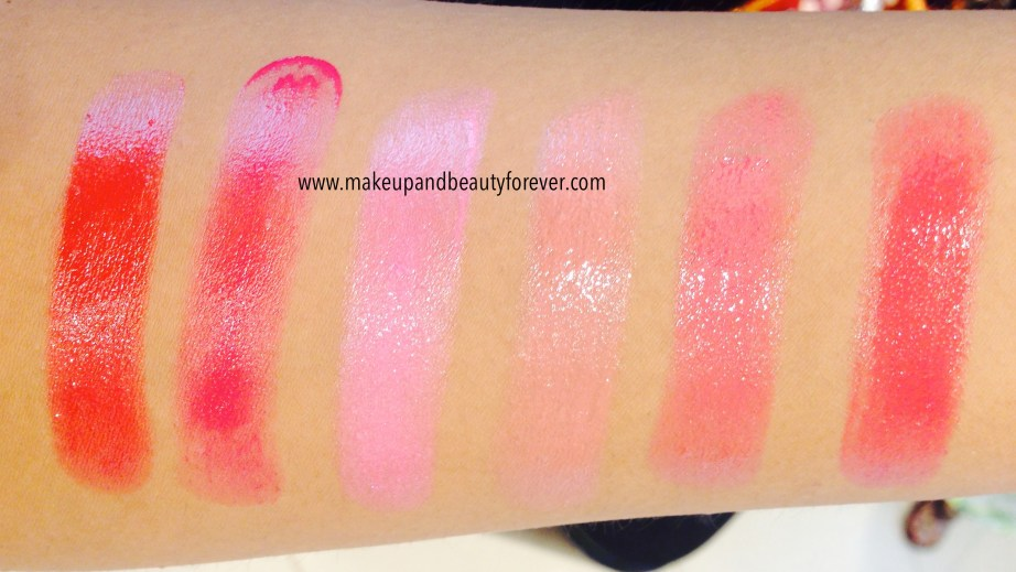 All Lakme Absolute Gloss Addict Lip Color Lipsticks Review, Shades, Swatches Price and Details