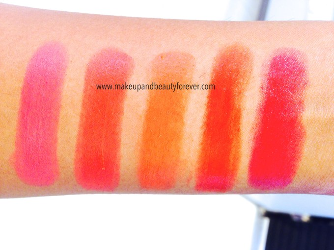 All Maybelline Bold Matte Colorsensational Lipsticks Review, Swatches, Shades, Price and Details Mat 1 Mat 2 Mat 3 Mat 4 Mat 5