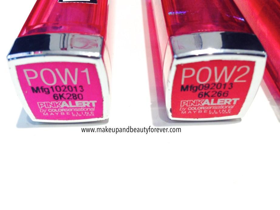 All Maybelline Pink Alert Color Sensational Lip Color Lipsticks POW1, POW 2, POW 3, POW 4 Review