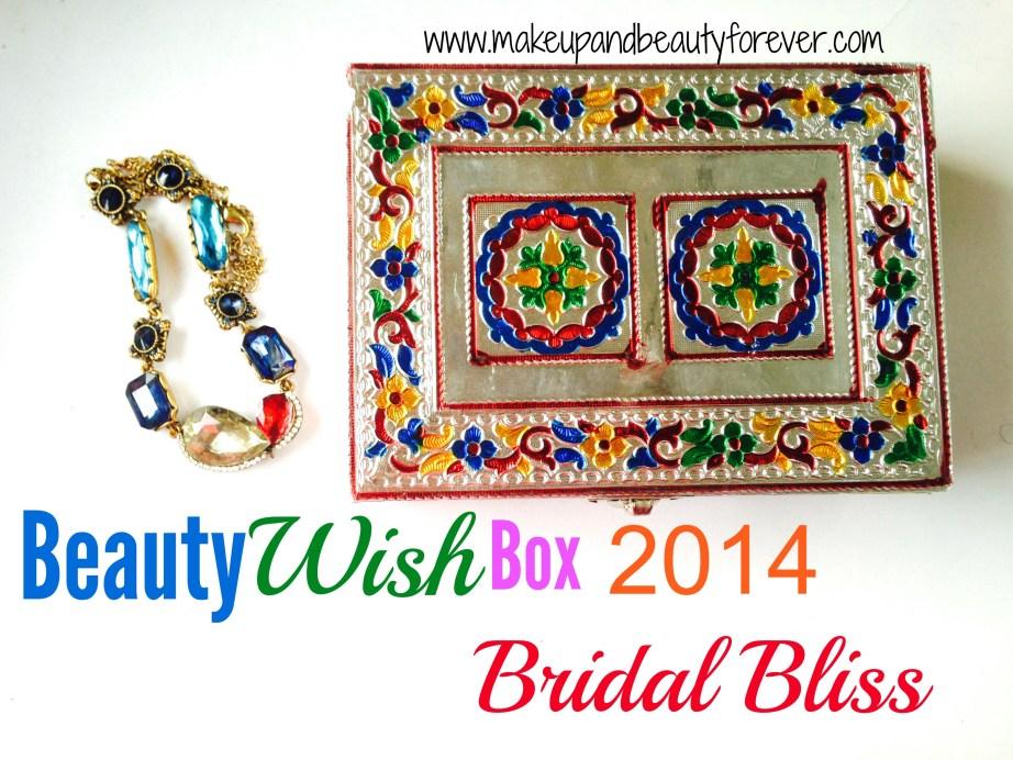 Beauty Wish Box October 2014 MBF