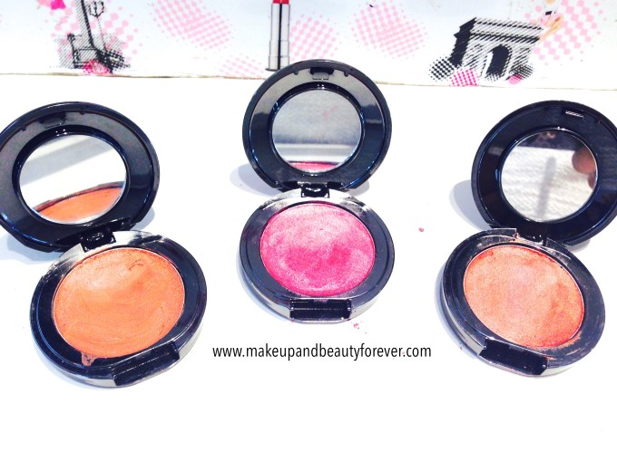 Faces Canada Glam On Cream Blush Sun Kissed, Hint Of Pink, Pink Mauved, Peach Glow Review, Shades, Swatches, Price and Details
