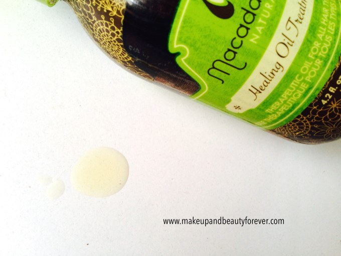Macadamia Natural Oil Healing Oil Treatment Review swatch in India