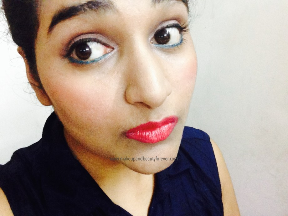 Maybelline Color Show Lipstick Cherry Crush 207 Review, Swatch, Price, FOTD Astha MBF