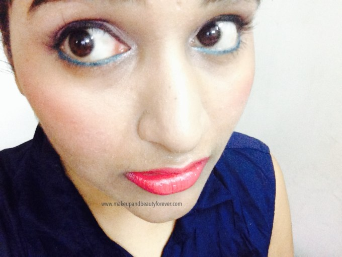 Maybelline Color Show Lipstick Cherry Crush 207 Review Swatch Price, FOTD