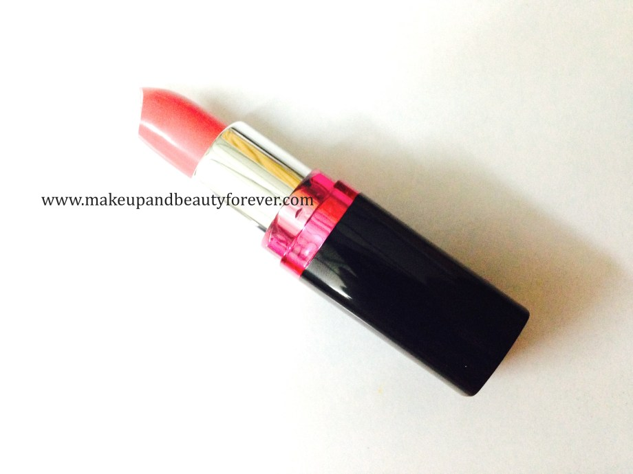 Maybelline ColorShow Lipstick Crushed Candy 103 Review, Swatch, Price, FOTD pink lipstick