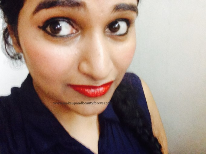Maybelline ColorShow Lipstick Red Rush 211 Review, Swatch, Price, FOTD Astha