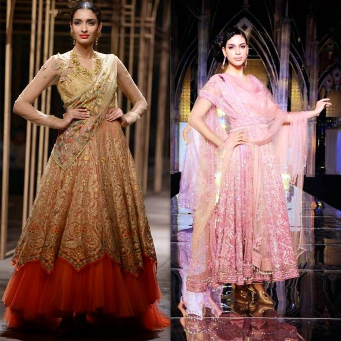 Tarun Tahiliani Bridal Pink Statement Lehenga