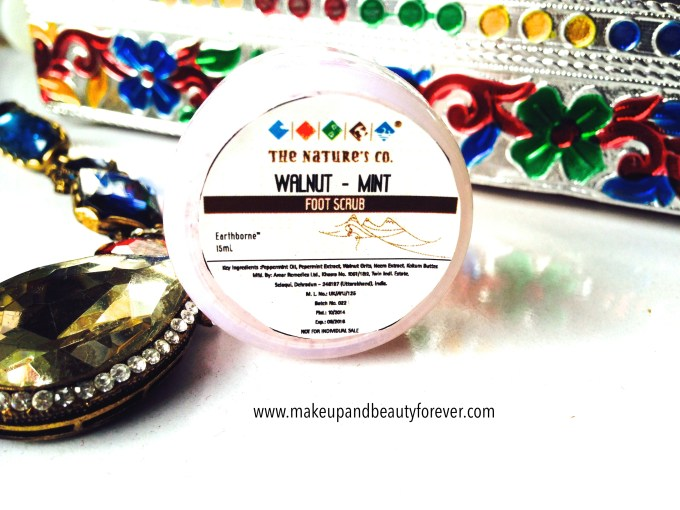 Walnut Mint foot scrub The Nature's Co in beauty wish box bridal bliss